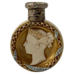 Royal Worcester Scent Bottle, Queen Victoria Jubilee, 1887