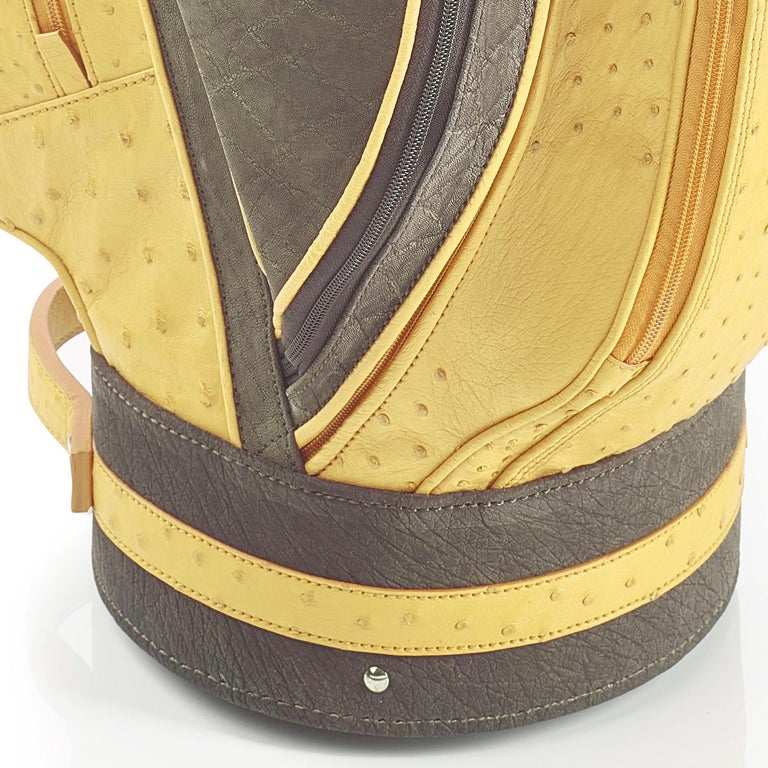 Italian Royal Yellow Golf Bag by Barchi For Sale