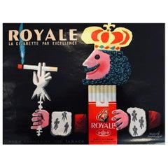 """Royale """"La Cigarette par Excellence"""" Hervé Morvan Original Vintage Poster"""