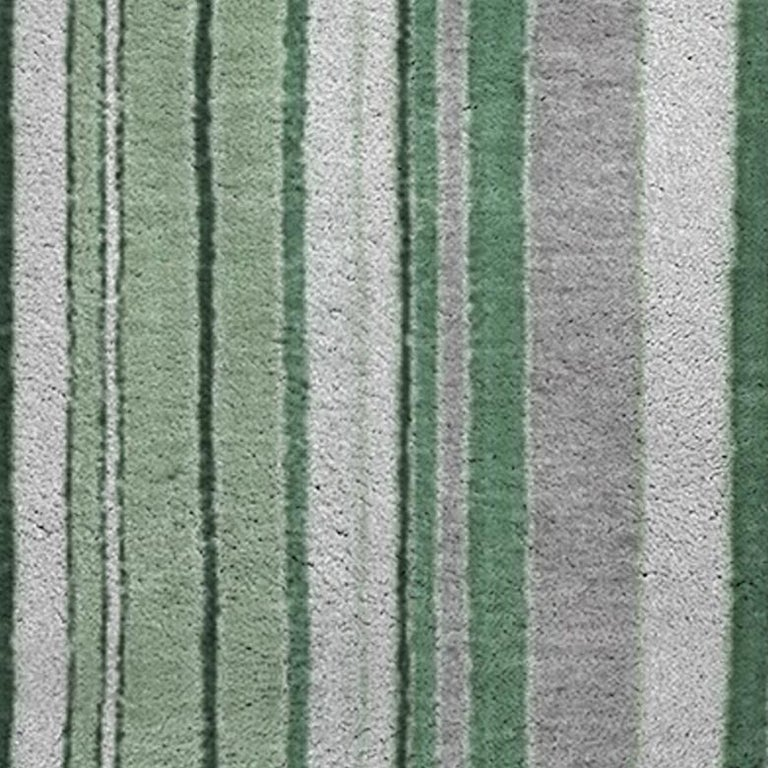 Modern Royalis Rug in Hand-Knotted Wool and Botanical Silk For Sale