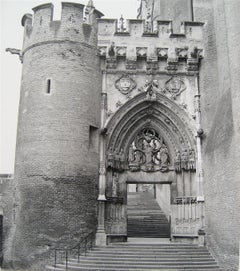 Arched Castle Doorway, Japan 1960s Black and White Photograph
