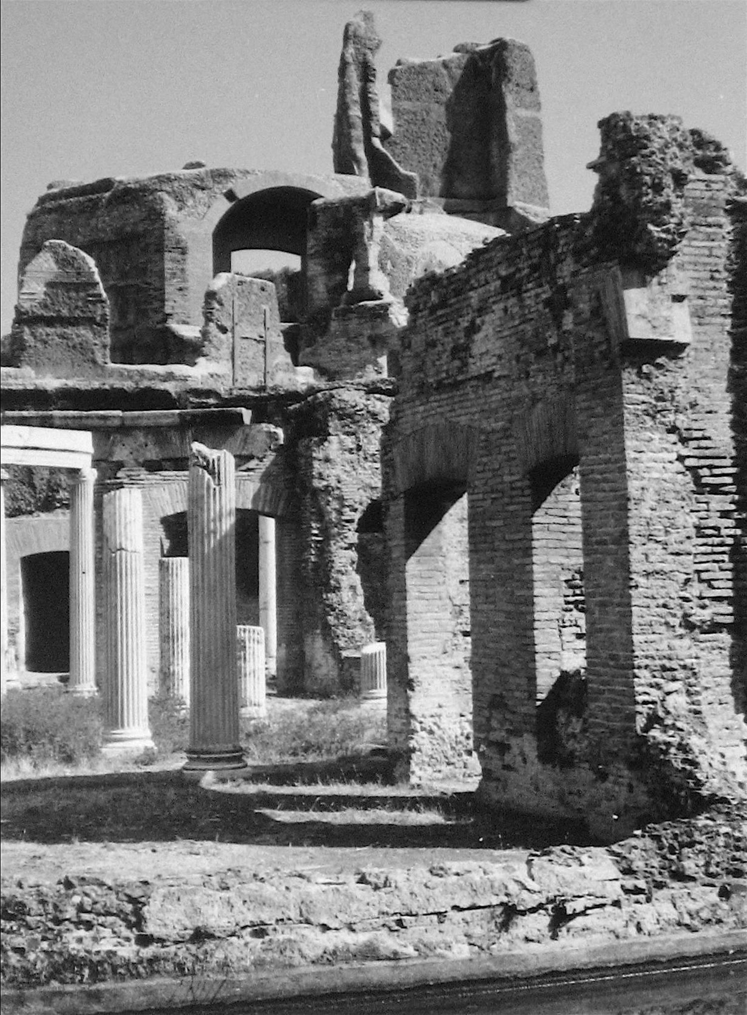 Roz joseph architectural ruins greece black and white photograph