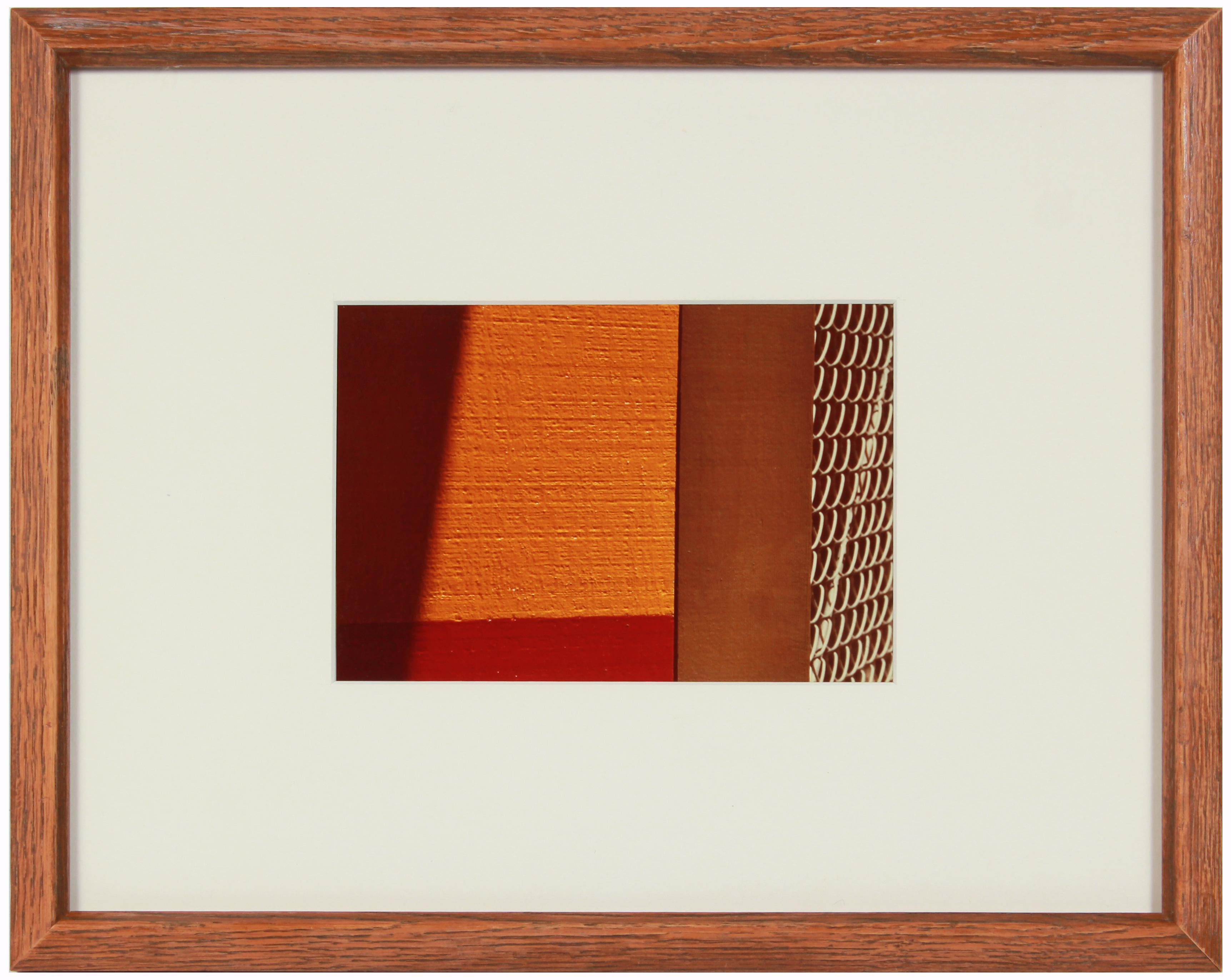 """""""City Art #10"""" 1970's Abstract San Francisco Color Photograph with Red & Orange"""
