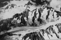 Mountains with Snow, Switzerland, Greece, Black and White Photograph, 1960s