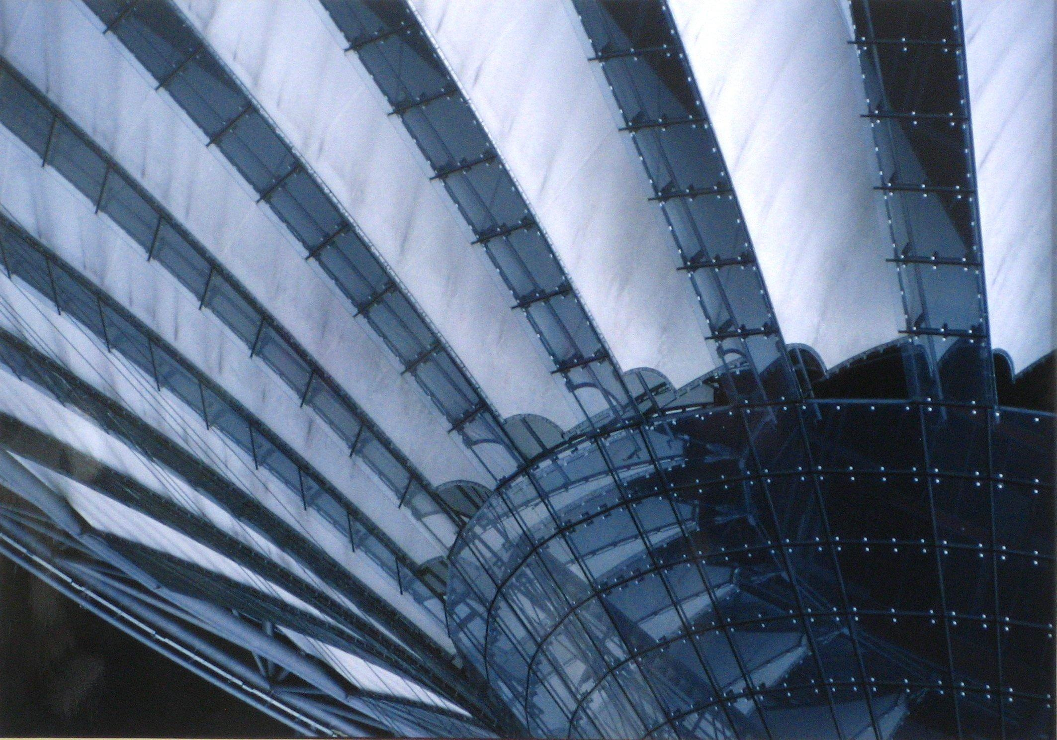 Soaring Architectural Abstract 1970s Color Photograph