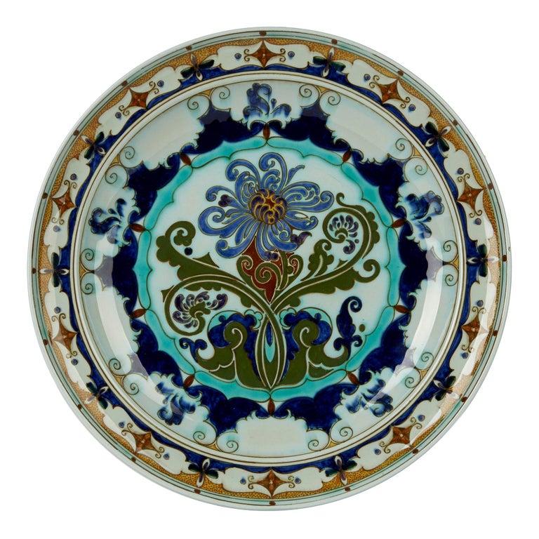 Rozenburg Den Haag Art Nouveau Art Pottery Dish, 1899-1914 For Sale