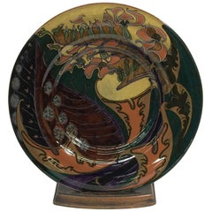 Rozenburg Earthenware Large Wall Plate, The Hague, The Netherlands, 1898
