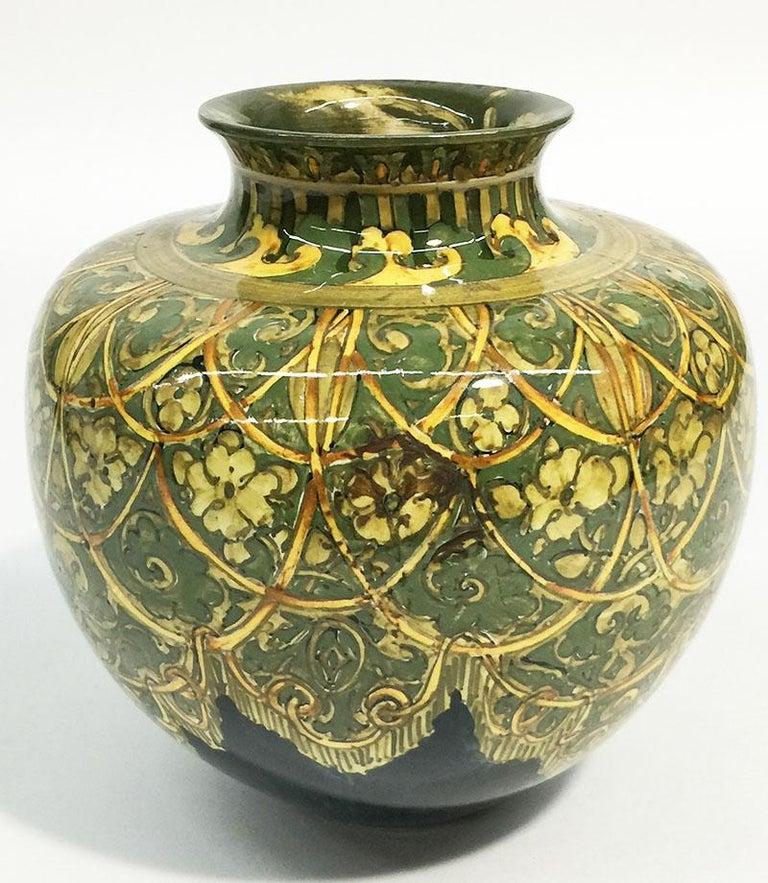 Rozenburg Earthenware vase, The Hague, The Netherlands, 1894 For Sale 1