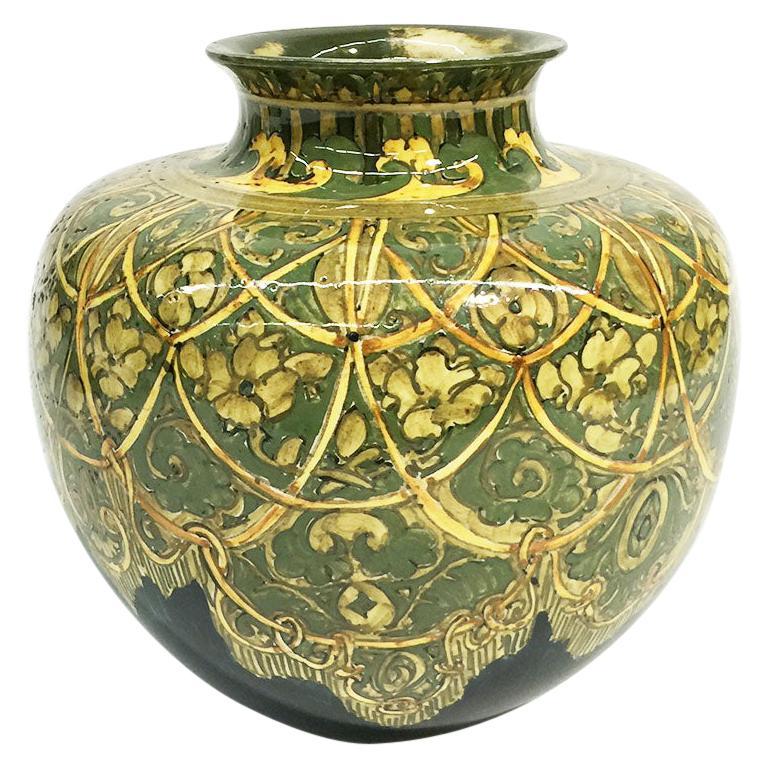 Rozenburg Earthenware vase, The Hague, The Netherlands, 1894 For Sale