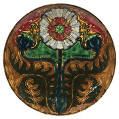 Rozenburg Earthenware Wall Plate, The Hague, The Netherlands, 1897