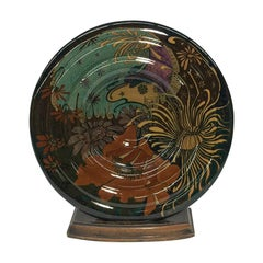 Rozenburg Earthenware wall plate, The Hague, The Netherlands, 1899