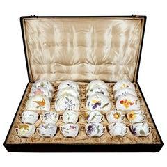Rozenburg Eggshell Porcelain, 12 Cups with Saucer, Samuel Schellink, circa 1907