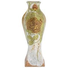 """Rozenburg """"Yellow Rose"""" Eggshell Porcelain Vase"""