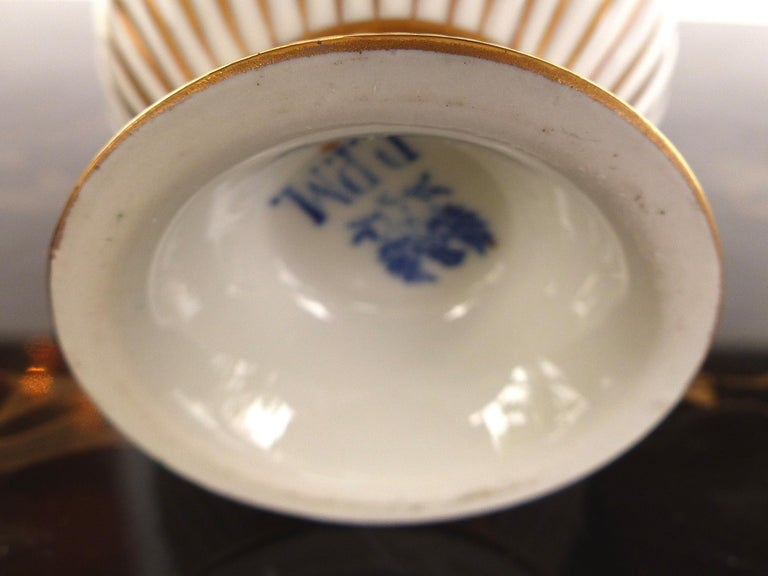 R.P.M. Germany Porcelain Gilt Decorated Demitasse Cup and Saucer For Sale 4