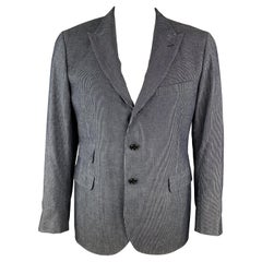 RRL by RALPH LAUREN Size 44 Indigo Pinstripe Cotton Peak Lapel Sport Coat