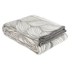 Røros Plaid, Naturpled Flette Grey, Pure New Wool