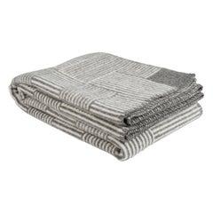 Røros Plaid, Naturpled Veve Grey, Pure New Wool