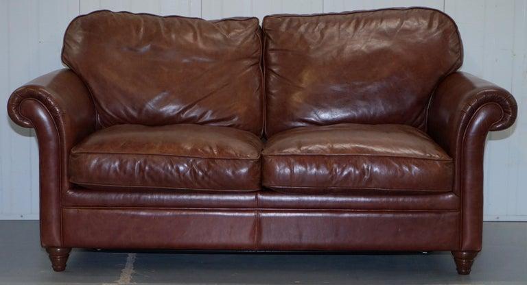 Laura Ashley Mortimer 2 Sofa Bed in Vintage Heritage Brown ...