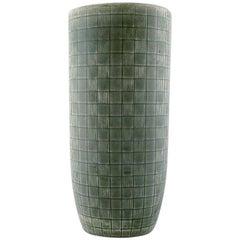 """Rørstrand / Rorstrand, """"Luna"""" Vase in Glazed Ceramic, Geometric Pattern"""