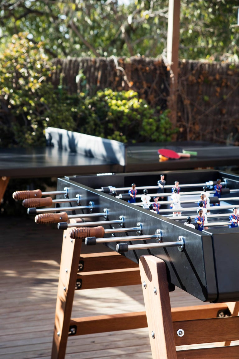 Spanish RS #3 Wood Football Table in Black by RS Barcelona For Sale