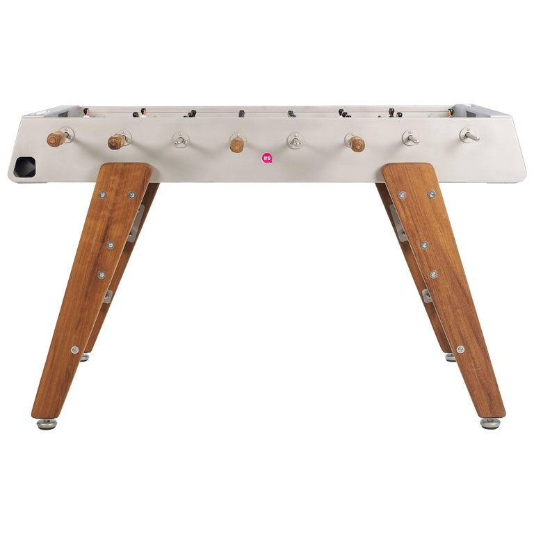 Rs #3 Wood Football Table in Stainless Steel by RS Barcelona