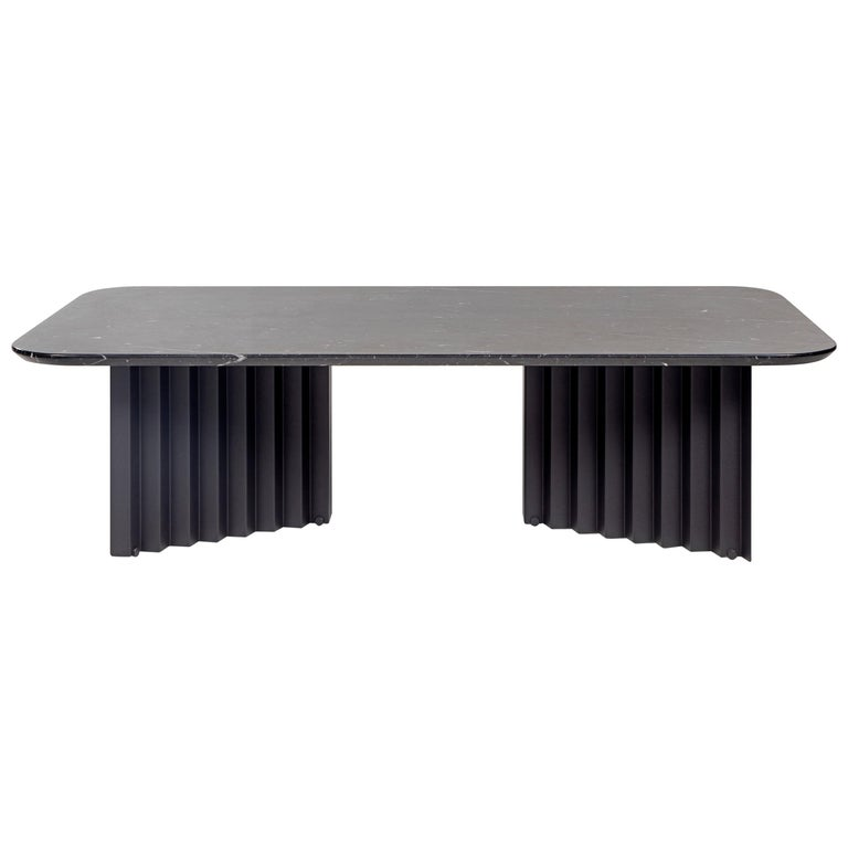 RS-Barcelona Large Plec Table in Black Marble by A.P.O. For Sale
