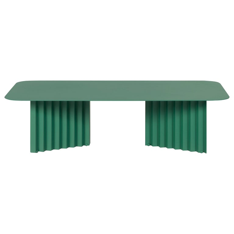 RS Barcelona Plec Large Table in Green Metal by A.P.O. For Sale