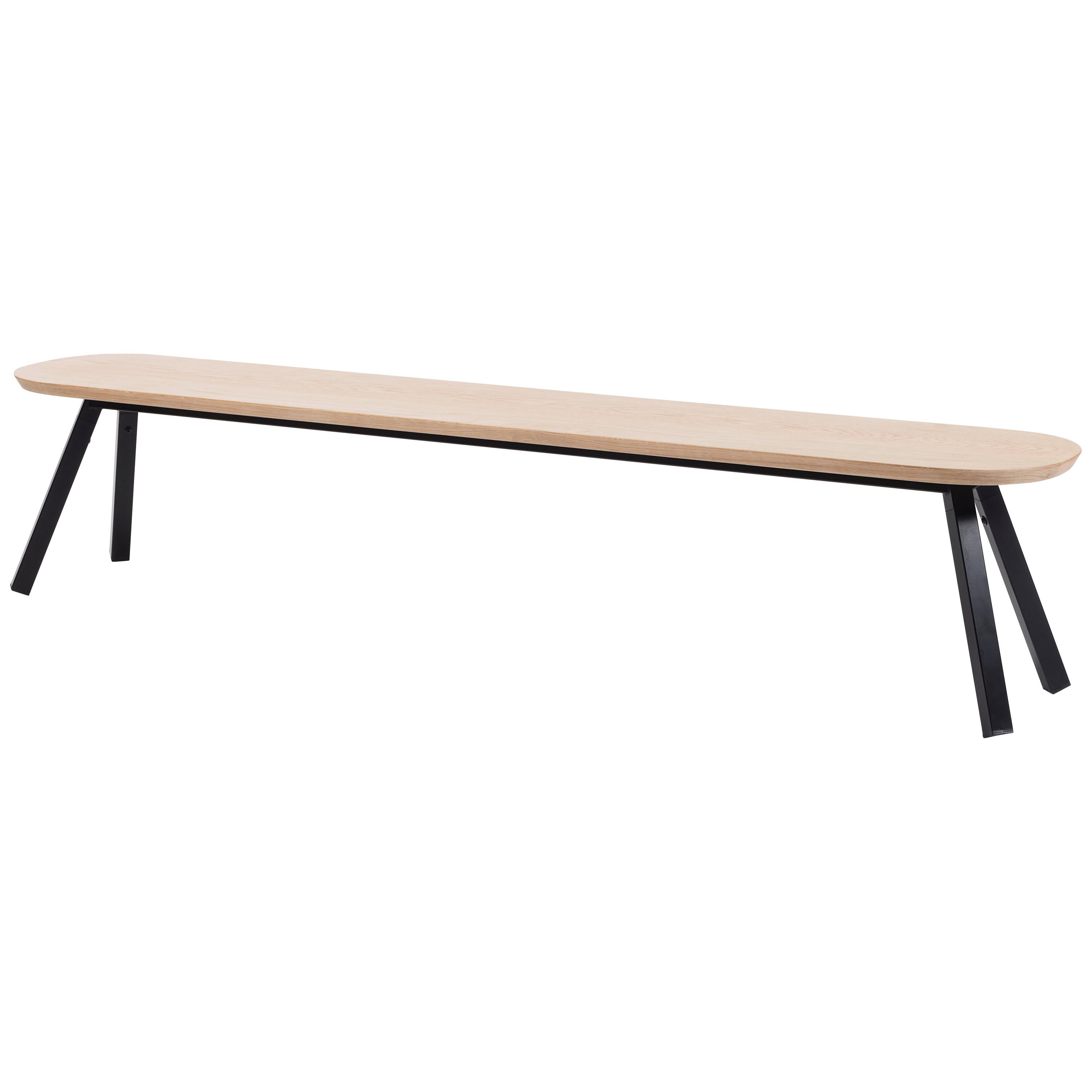 RS Barcelona You and Me 220 Bench in Oak with Black Legs by A.P.O.