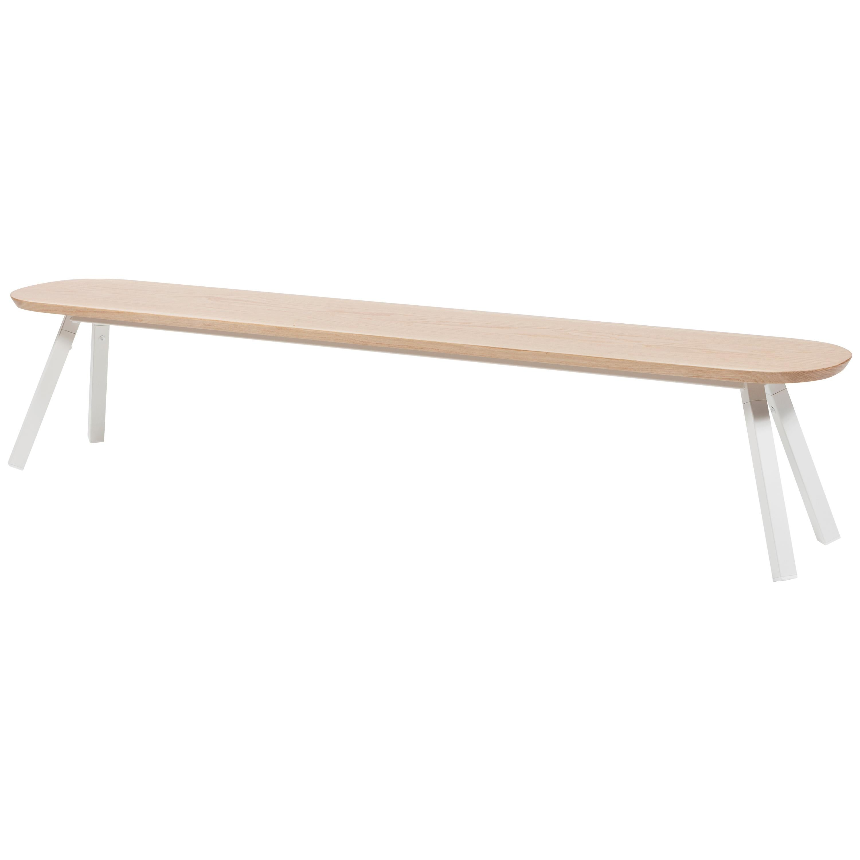 RS Barcelona You and Me 220 Bench in Oak with White Legs by A.P.O.