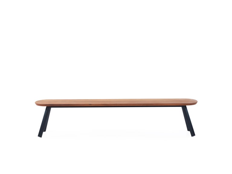 The You and Me collection of benches and stools are versatile and practical, perfect for any room and any function. Bench size variations include: 86.6 in, 71 in, or 47 in wide. Includes cushions and additional upholstered covers, with options for