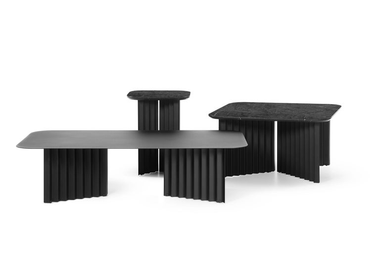 Modern RS-Barcelona Medium Plec Table in Black Marble by A.P.O. For Sale