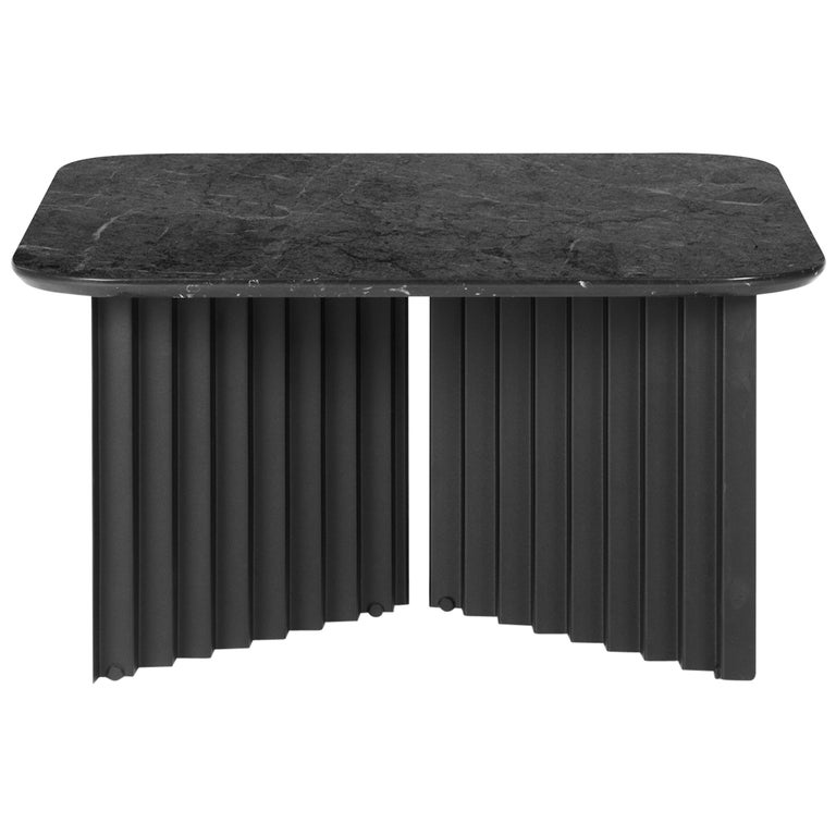 RS-Barcelona Medium Plec Table in Black Marble by A.P.O. For Sale