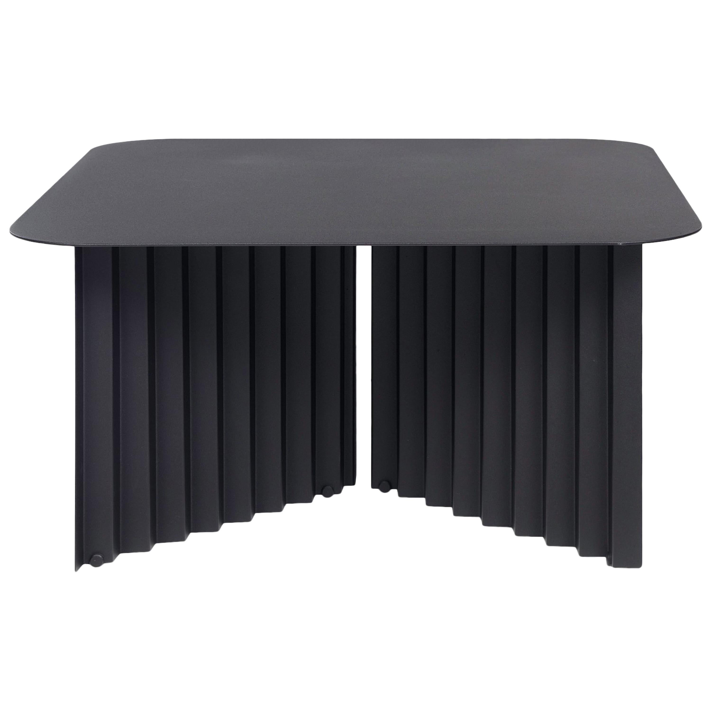 RS Barcelona Plec Medium Table in Black Metal by A.P.O.