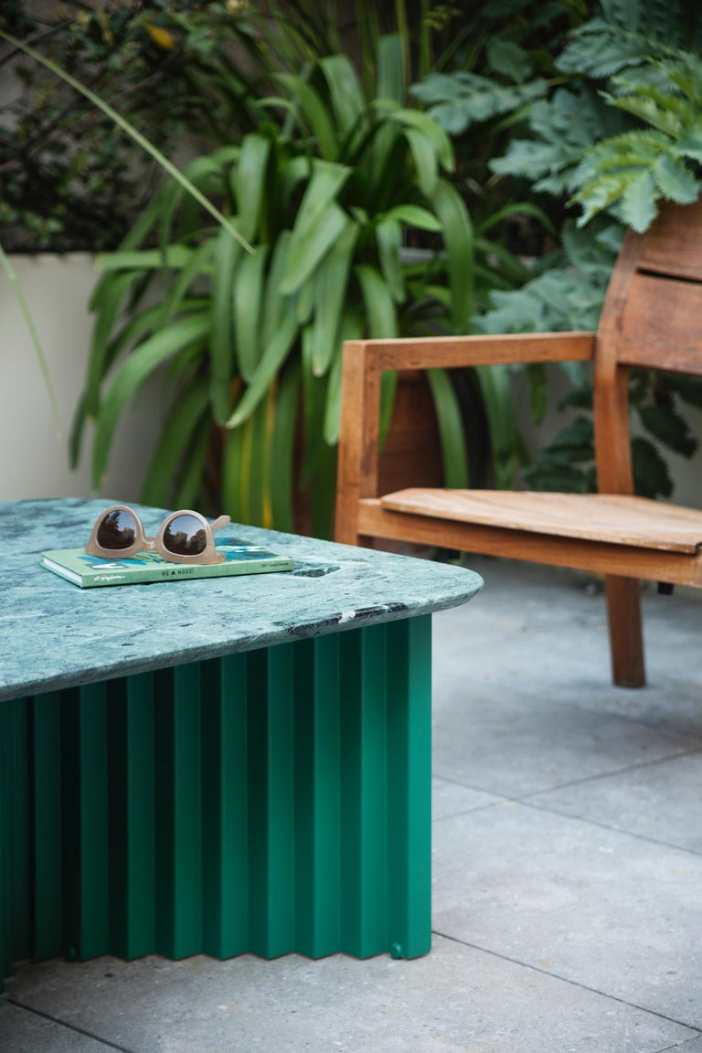Spanish RS-Barcelona Medium Plec Table in Green Marble by A.P.O. For Sale