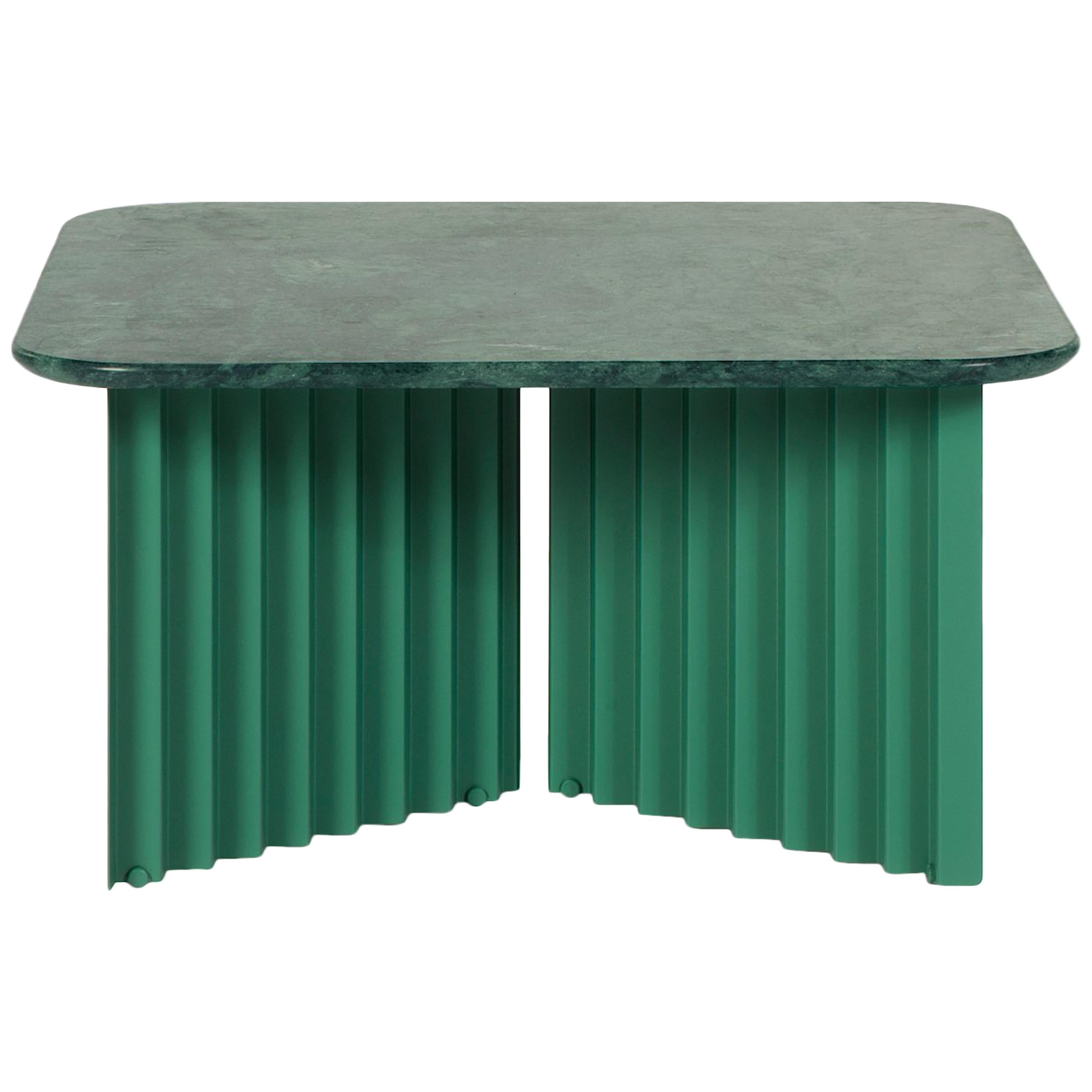 RS Barcelona Plec Medium Table in Green Marble by A.P.O.