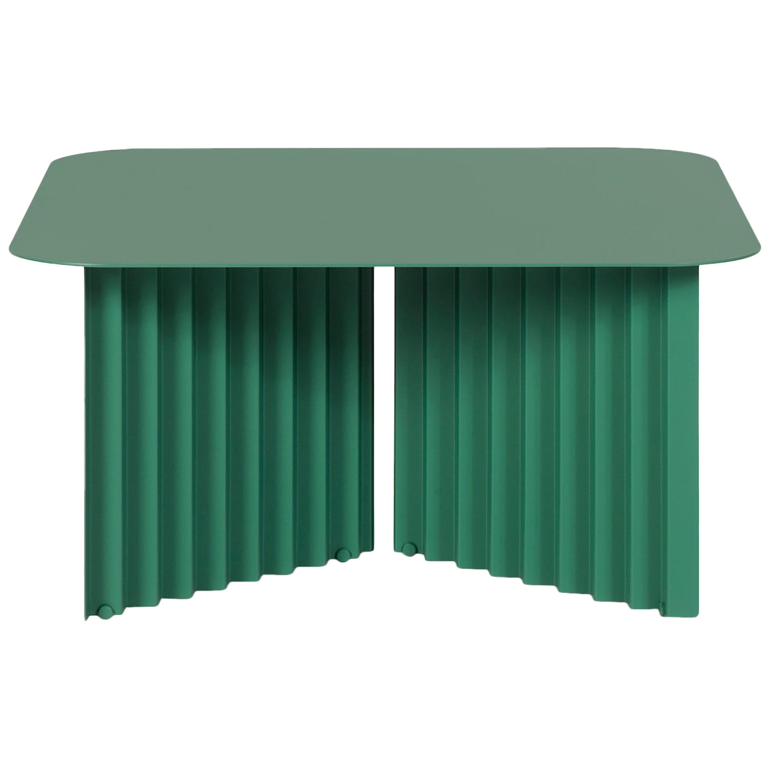 RS Barcelona Plec Medium Table in Green Metal by A.P.O.