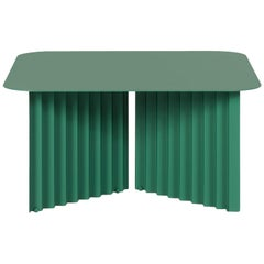 RS-Barcelona Medium Plec Table in Green Metal by A.P.O.