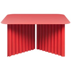 RS-Barcelona Medium Plec Table in Red Metal by A.P.O.