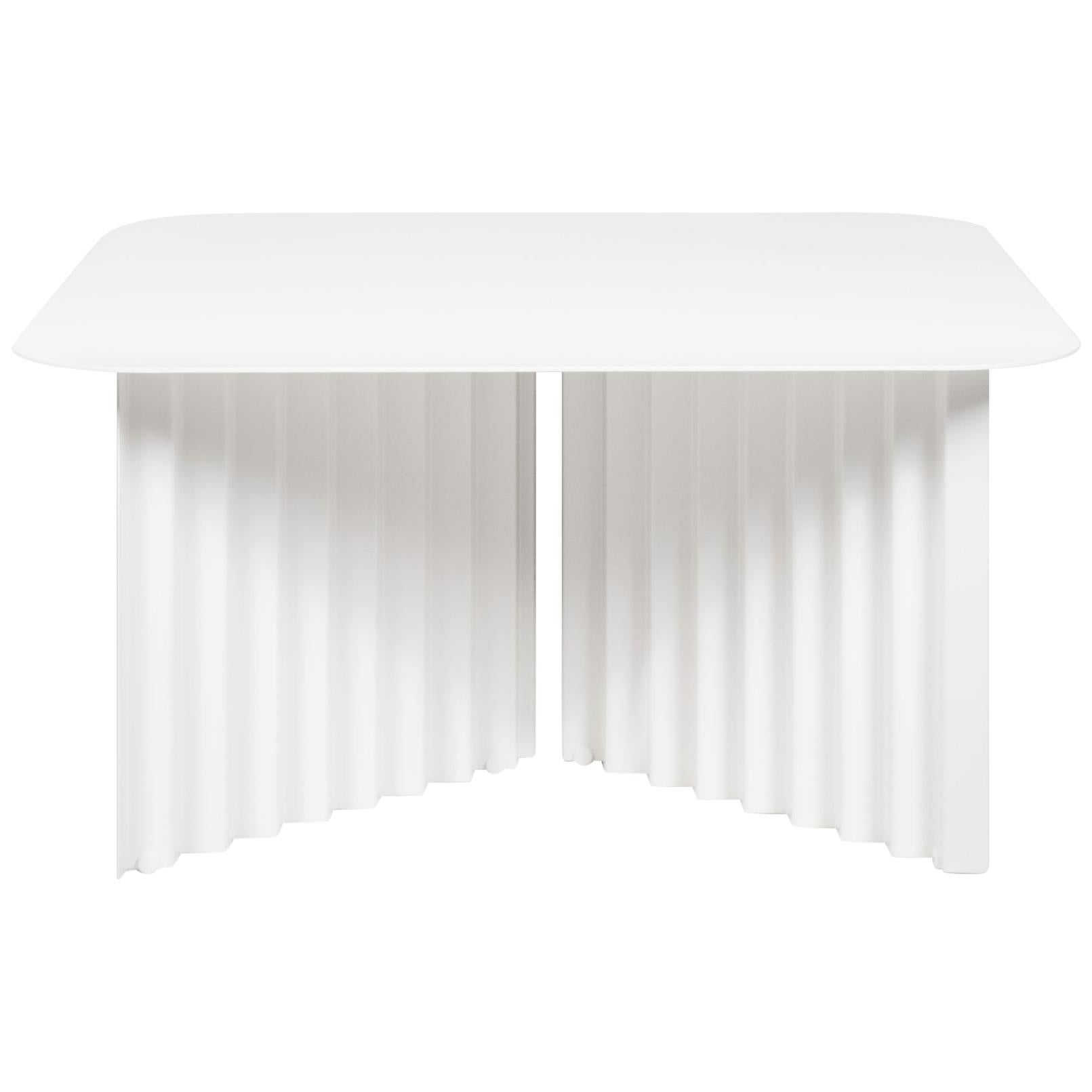 RS Barcelona Plec Medium Table in White Metal by A.P.O.