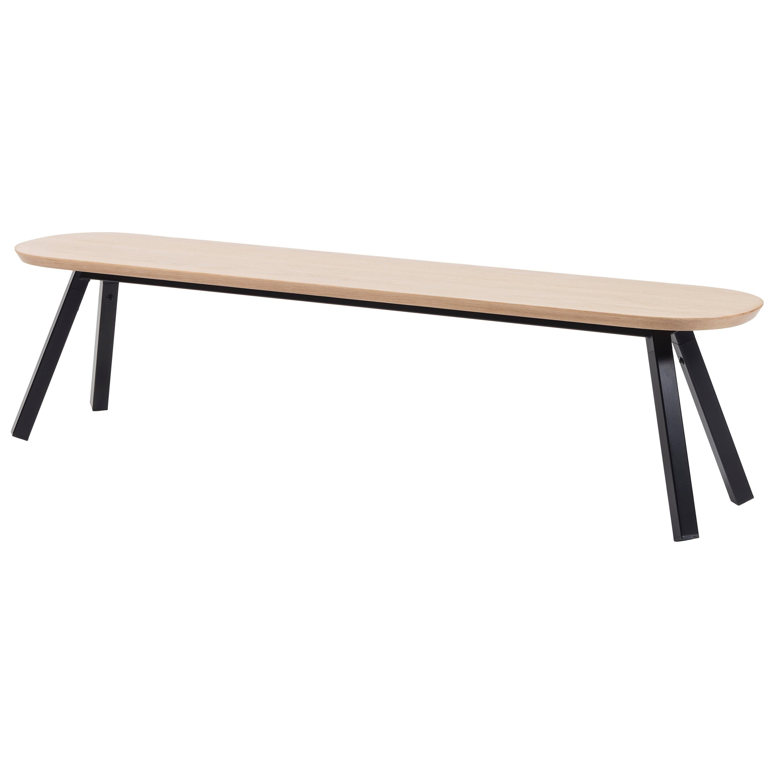 RS Barcelona You and Me 180 Bench in Oak with Black Legs by A.P.O.