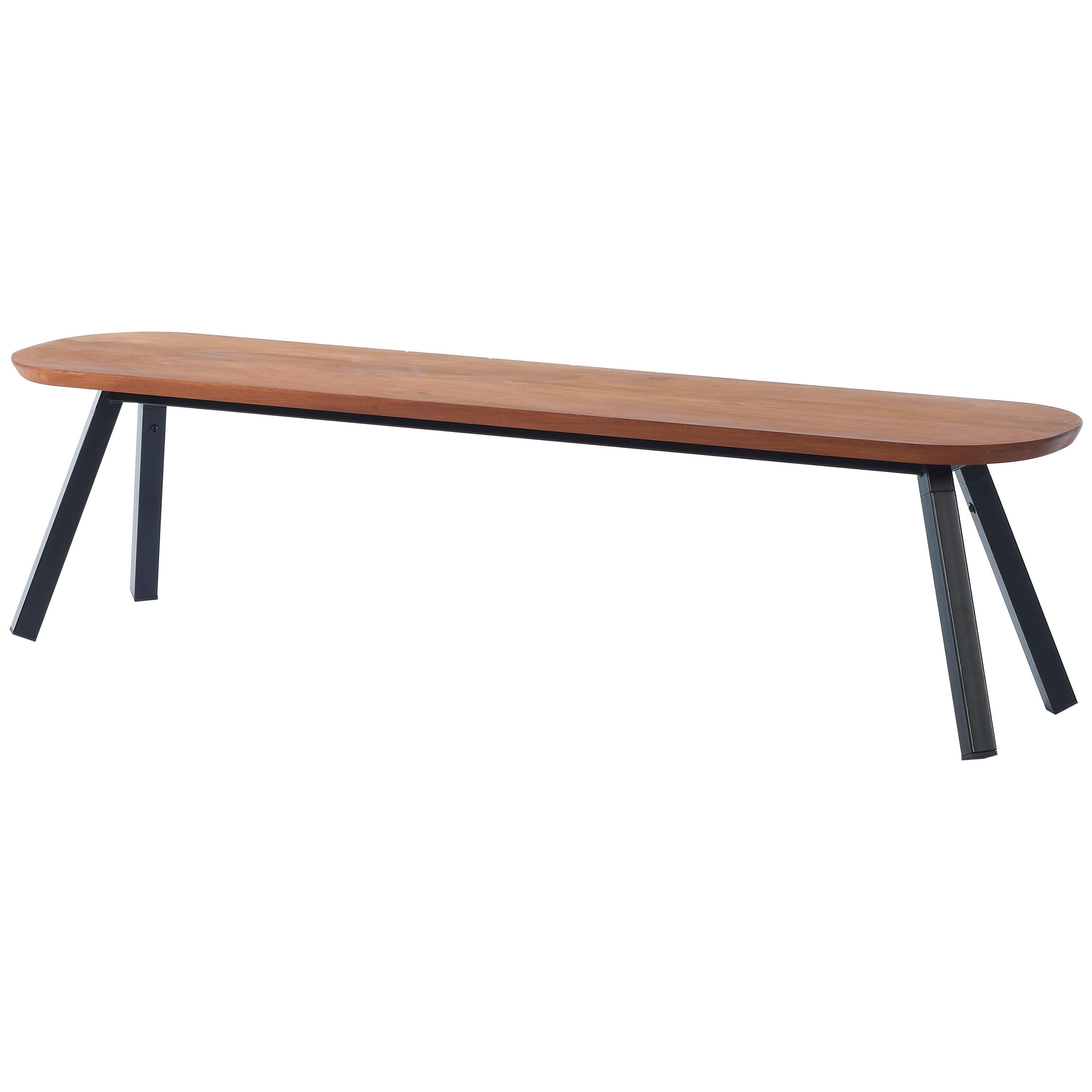 RS Barcelona You and Me 180 Bench in Iroko with Black Legs by A.P.O.