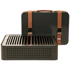 RS-Barcelona Mon Oncle Set of Four Barbecue in Grey by Mermelada Estudio