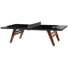 RS-Barcelona Ping-Pong Stationary Table in Black and Iroko by Rafael Rodríguez