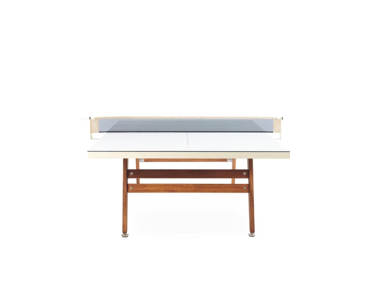 RS-Barcelona Ping-Pong Stationary Table in White by Rafael Rodríguez In New Condition For Sale In Edison, NJ