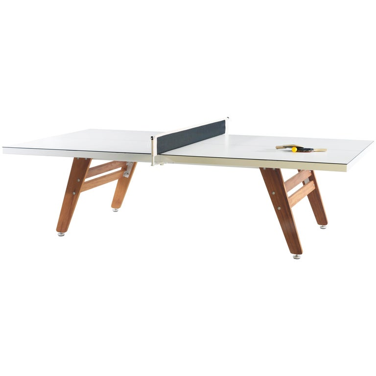 RS-Barcelona Ping-Pong Stationary Table in White by Rafael Rodríguez For Sale