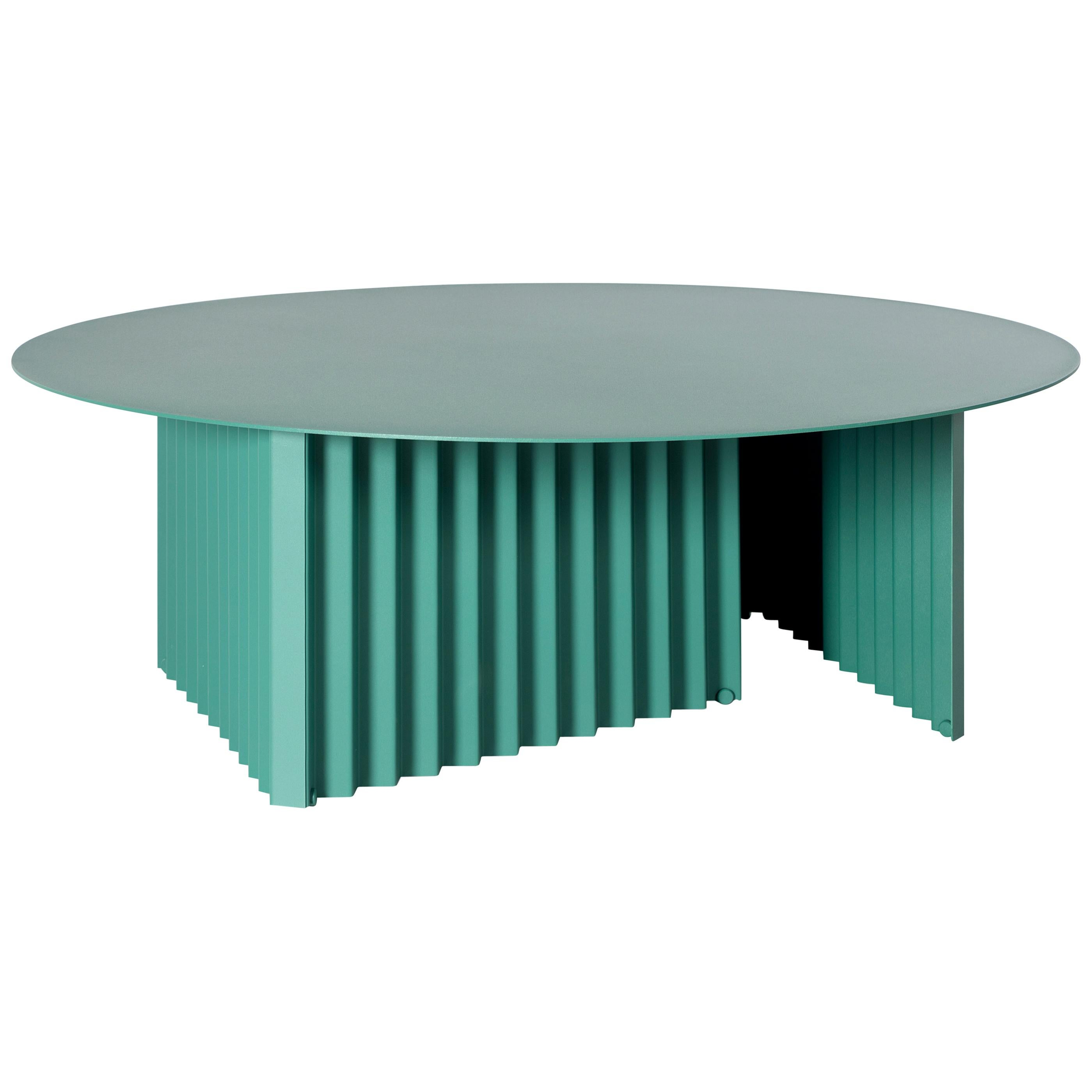 RS Barcelona Plec Round Large Table in Green Metal by A.P.O.