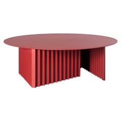 RS Barcelona Plec Round Large Table in Red Metal by A.P.O.