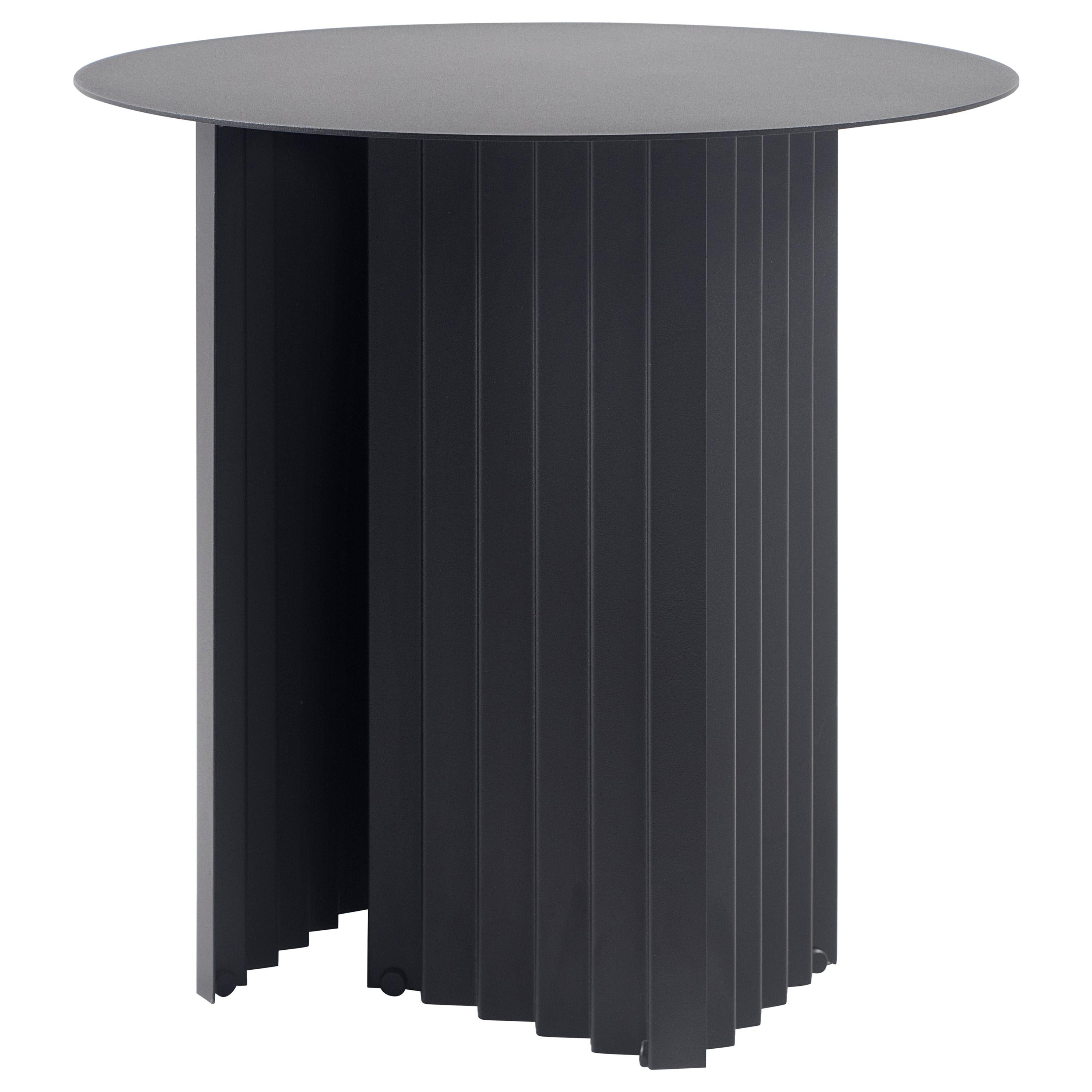 RS Barcelona Plec Round Small Table in Black Metal by A.P.O.