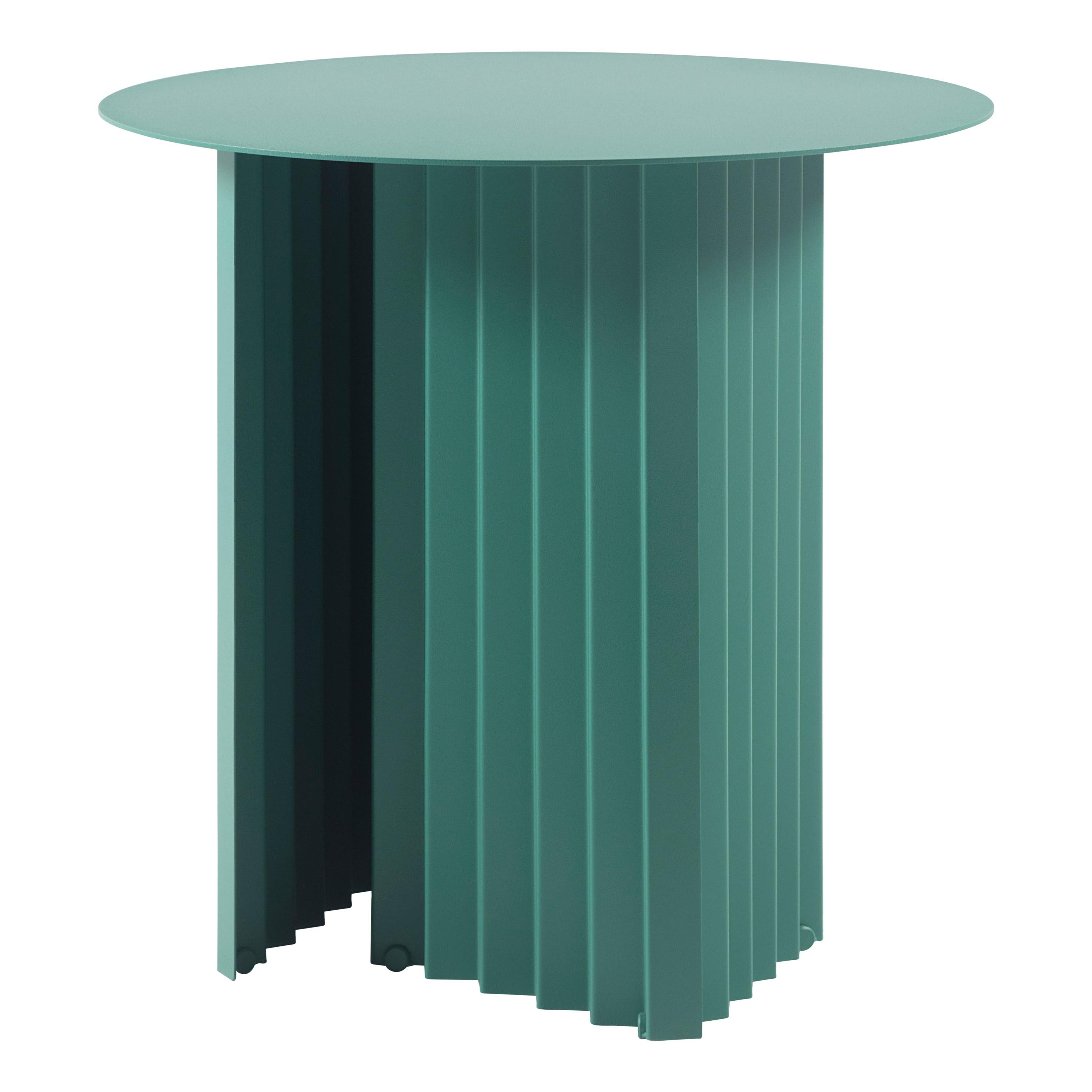 RS Barcelona Plec Round Small Table in Green Metal by A.P.O.