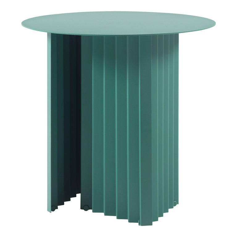 RS Barcelona Plec Round Small Table in Green Metal by A.P.O. For Sale
